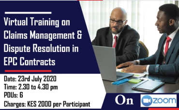 EBK CPD Virtual Training on Claims Management & Dispute Resolution in EPC Contracts